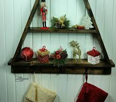 Stocking Holder Christmas Tree Shelf MyRepurposedLife