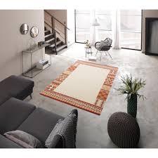 theko exklusiv wollteppich nuno rechteckig 14 mm höhe reine wolle mit bordüre wohnzimmer