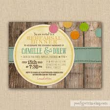 Rustic Rehearsal Dinner Invitations