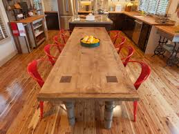 How To Build A Reclaimed Wood Dining Table | How-tos | DIY Ana Rectangular And For Round Ding Table Umbrella Cloth Cedar Heights Butterfly The Classy Home Fniture Old Rustic Small High Top Kitchen 3piece Hill Set 2kfniture Stools Counter Height Hom Greg Klassen Manataka Ozark Concrete And Wood Slab 6 Steps With Pictures 54 Western Coffee Display Antique Wagon Bradleys Etc Utah Sets Homemade Cedar Table Made From Trees Off My Property In Amazoncom Midwest Log Northern Torched