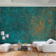 vlies 3d effekt fototapete rost grün metalwand tapete wandbilder wohnzimmer