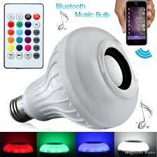 Hot Smart Wireless Bluetooth Light Bulb Speaker Colorful Support