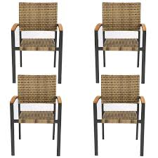 Amazon.com : LUCKYERMORE Rattan Dining Chairs Set Of 4 Outdoor Patio ... Annabelle Outdoor Garden Fniture All Weather Wicker Rattan 10 Home Decators Collection Naples Brown Allweather Amazoncom Luckyermore 4pack Patio Chairs Belham Living Bella Ding Chair Set Of 2 Contemporary 150 Cm Teak Table 6 Shop Havenside Hampton Allweather Grey Round Terrain Tangkula 5 Pcs Resistant Coral Coast Brisbane Open Inspired Bistro Saint Tropez Stackable Whitecraft S6501 By Woodard Sommerwind Wickercom