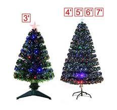 3 4 5 6 7ft Pre Lit Fiber Optic Christmas Tree