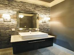 Mosaic Framed Bathroom Mirror by Bathroom Double Downlight Wall Sconces Applied On Mosaic Tile