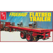 AMT USA 1/25 Scale Fruehauf Flatbed Trailer Plastic Model Kit