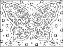 A Very Complicated Butterfly Doodle Art Coloring Page For Adults