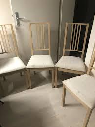 ikea holz polster stühle 4 stück esszimmer oder küche in