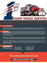 100 Trucking Companies In Houston Tx 1st Dump Truck Service Back Fill Dirt Trucking Compony Texas