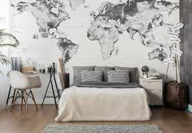 fototapete topografische weltkarte schwarz weiß wall
