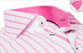 pink checkered shirt reverso waisted fit dress shirts for men