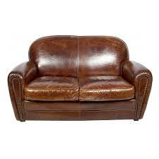 canapé cuir vieilli marron canapé 2 places bridge en cuir marron vintage