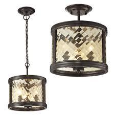 ELK 3 Chandler Oil Rubbed Bronze Home Ceiling Lighting