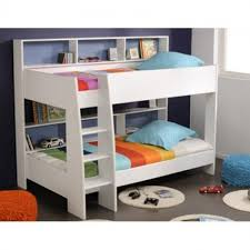 parisot leo white bunk bed with respa mattresses duvets and pillows
