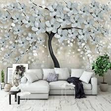 details zu vlies fototapete baum 3d effekt blumen abstrakt beige pflanzen wohnzimmer