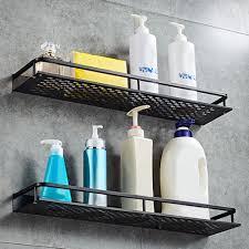 details zu 2x wandregal duschablage handtuchstange duschstange bad accessoires ohne bohren
