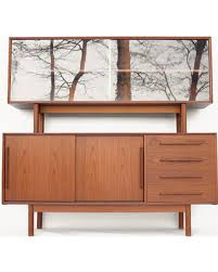 Credenza Mid Century Danish Modern Dyrlund Sideboard Hutch Buffet Dresser Cabinet Home Decor Vintage Scandinavian Dining