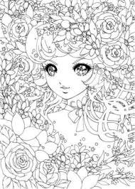 Detailed Japanese Shoujo Coloring Pages