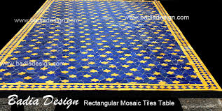 rectangular mosaic tile table moroccan tiles los angeles