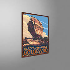 Twin Rocks Garden Of The Gods Colorado Rustic Metal Art Print By
