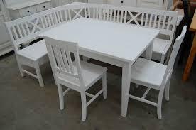 massivholz eckbank grainau kernbuche gewachst weiß mit truhe 185cm x 145cm ohne tisch ohne stühle