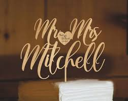 Customized Wedding Cake Topper For Rustic Mr