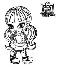 Pictures Monster High Baby Coloring Pages 70 In Picture Page With