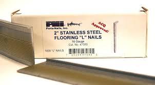 Freeman Flooring Nailer Nails by Porta Nails 47080 16 Gauge 2 Inch Stainless Steel Flooring Nails