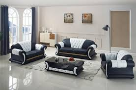 Sofa set living room furniture with genuine leather corner sofas