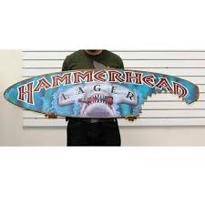 Decorative Surfboard With Shark Bite by 5ft Hammerhead Lager Beer Surfboard Sign With Shark Bite Bar