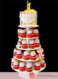 Lilly s First Birthday Cupcake Tower