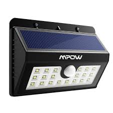 Mpow 20 LED Solar Lights Bright Outdoor Security Lights with