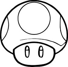 Super Mario Mushroom Coloringpages