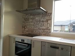 CODE Glass Splashback DESCRIPTION My Instruction Give Me Modern Hard Sharp I Want A Kitchen With Attitude COLOUR Silver On Black