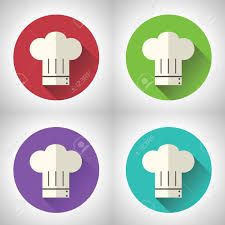 symbole cuisine chef cuisinier symbole toque cuisine alimentaire icône sur fond