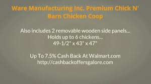 Chicken Coops At Walmart Ware Manufacturing Inc Premium Chick N ... Chicken Coops For Sale Runs Houses Kits Petco Coops 6 Chickens Compare Prices At Nextag Building A Coop Inside Barn With Large Best 25 Shelter Ideas On Pinterest Bath Dust Little Red Backyard Chickens Barn Images 10 Backyard From Condos Compelete Prevue 465 Rural King Designs Horizon Structures