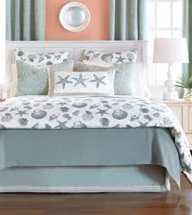 bedroom light grey coastal bedding collections with star fish and