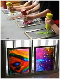 Dollar Store Frames Are Perfect For Making Window Art With Glue And Food Coloring Kids Paint CraftsDIY
