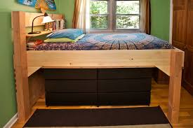 bed frames how to build a queen size loft bed low loft bed with