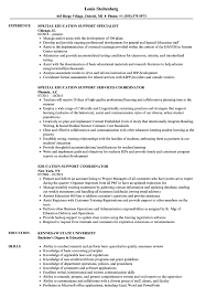 Download Education Support Resume Sample As Image File