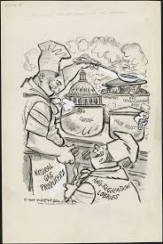 Herblock Looks At 1964 Fifty Years Ago In Editorial Cartoons