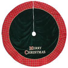 Green Aisha African Print Christmas Tree Skirt