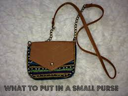 what to put in a small purse youtube