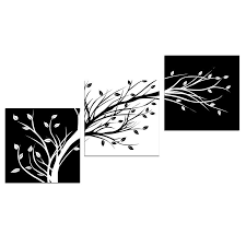 Black And White Framed Wall Art Canvas Print Painting Picture Home Decor Landscape