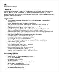 Assistant Restaurant Manager Resume Creative General Sample And Suggestions Let Anyone Know You Are Deserved To Be A