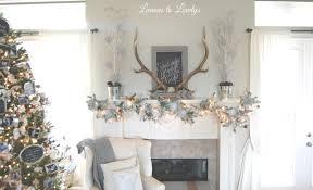 Michaels Pre Lit Christmas Trees by Christmas 2015 Fireplace Mantle U2013 Lemons To Lovelys