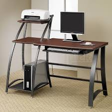 Collection in Contemporary puter Desk Wood Metal Contemporary