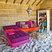 canapé cancun maison du monde banquette canapé 3 places cancun decodesign décoration