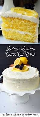 Italian Lemon Olive Oil Cake With Vanilla Cream Cheese Frosting Is The Best