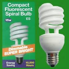 15w e27 es dimmable low energy cfl light bulb dimmer variable